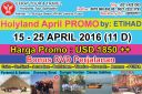 TOUR KE ISRAEL 15 - 25 April 2016 Mesir - Israel - Jordan   PETRA Promo by ETIHAD AIRWAYS